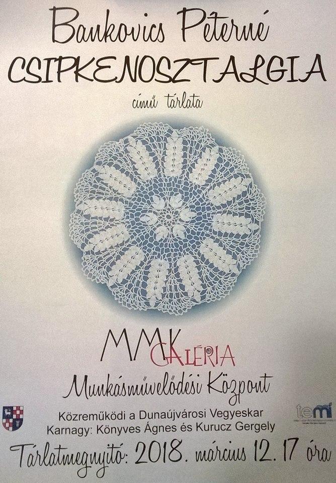 Csipkekiállítás Köller Mária plakát