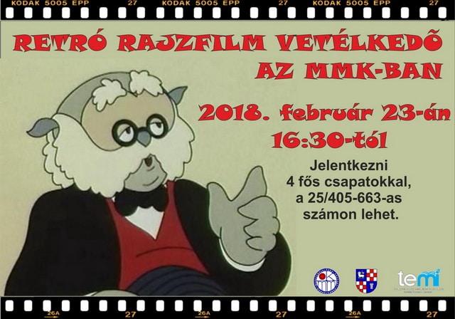 Retro rajzfilm vetélkedő plakát - 2018
